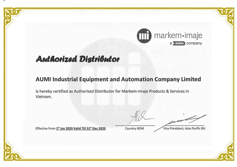 AUMI hiện là đại lý máy in chính thức của Markem Imaje Việt Nam